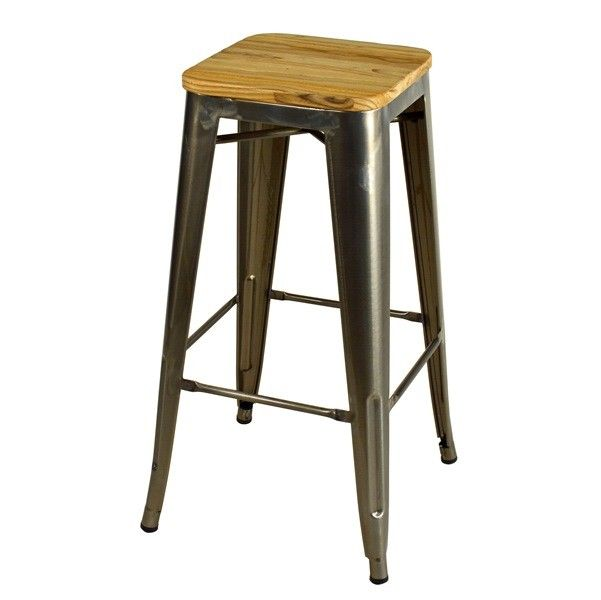 Barstool gunmetal 1 elm bar stool pinterest for Barhocker industrial style