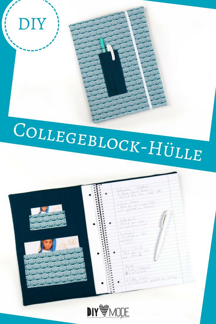 Collegeblock Hülle nähen – DIY MODE / Sewing Upcycling & DIY Fashion