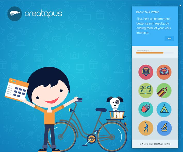 UI/UX design for kids after-school activities by Vladan Zlatic