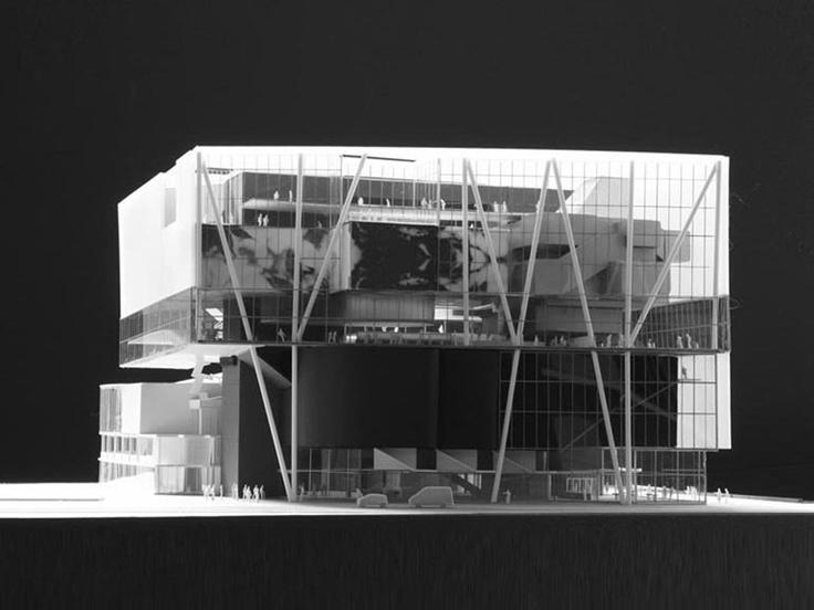 Muziekpaleis Vredenburg model by Herman Hertzberger, Jo Coenen and aTA (Hugo…