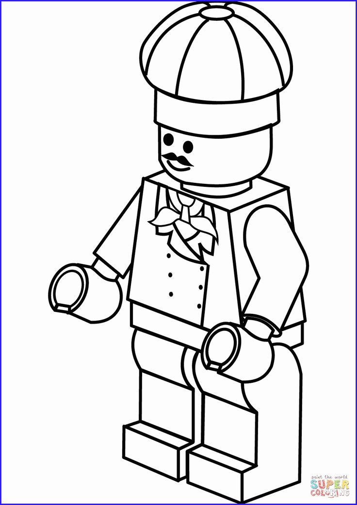 lego man coloring page Free http//www