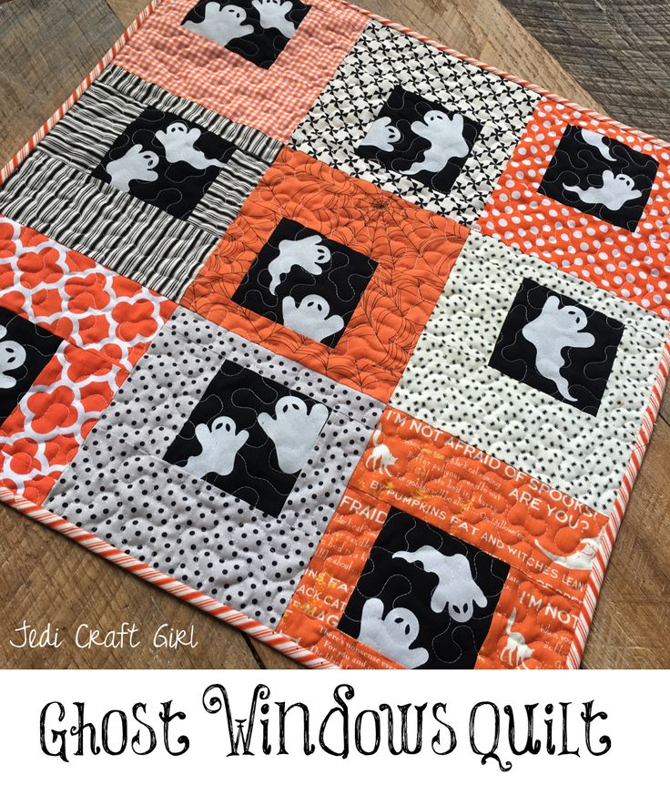 I love sewing with traditional orange and black fabrics – don't you!  This little quilt measures 24″ square and is perfect to hang on a wall or put on a table.  All you need is a …