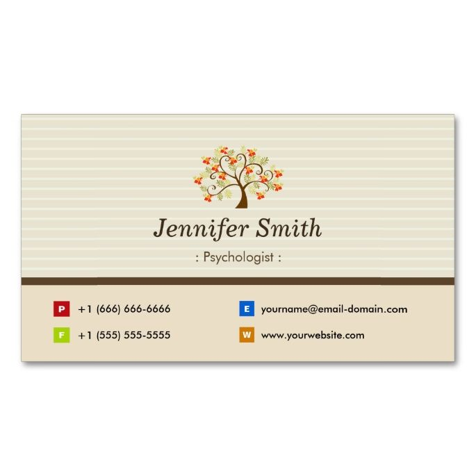 Psychologist Elegant Tree Symbol Business Card Zazzle Com Psychologist Business Card Psychology Business Card Printing Business Cards