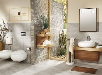 Salle de bains mod le pure stone salle de bain pinterest pierres - Model salle de bain design ...