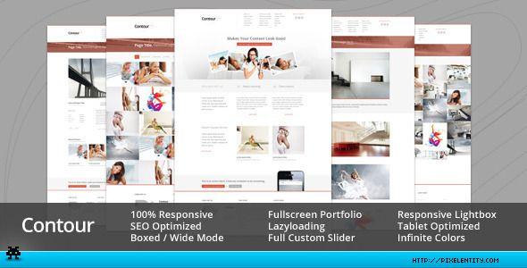 Contour - Minimal Portfolio & Corporate Template