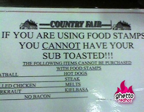 Taking the 'no hot foods' rule seriously! As a side note though, why are people even using food stamps at the COUNTRY FAIR?!