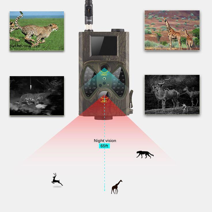 Night Vision Wild Camera GSM Photo Traps Email MMS SMS GPRS Hunting Camera HC300M GSM MMS Deer Hunting Camera