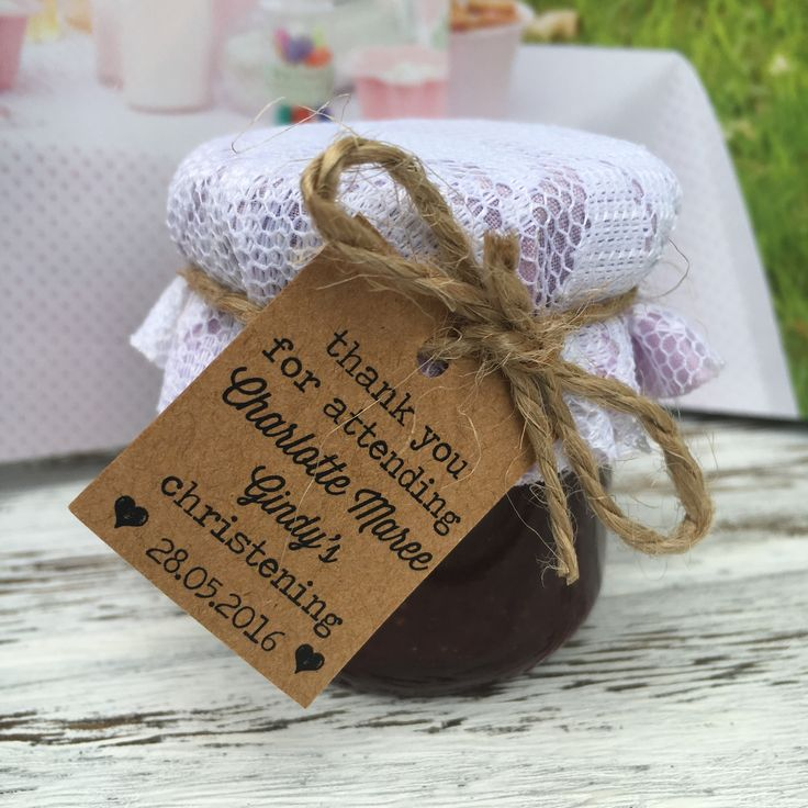 Christening Favours / Baptism Favours / Mini Jam Favours   Made by sweettillyflint.com (Australia) $3.95