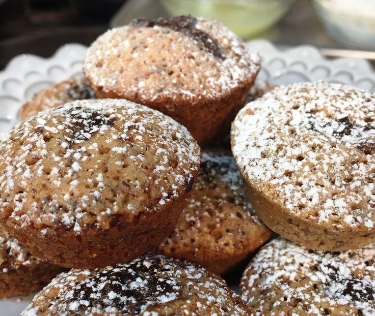 Gluten-Free Hazelnut Financiers with Dark Chocolate Ganache