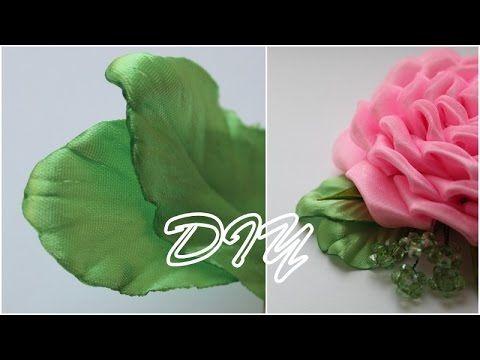 Лепестки Канзаши для Розы / Petals kanzashi for Roses - YouTube
