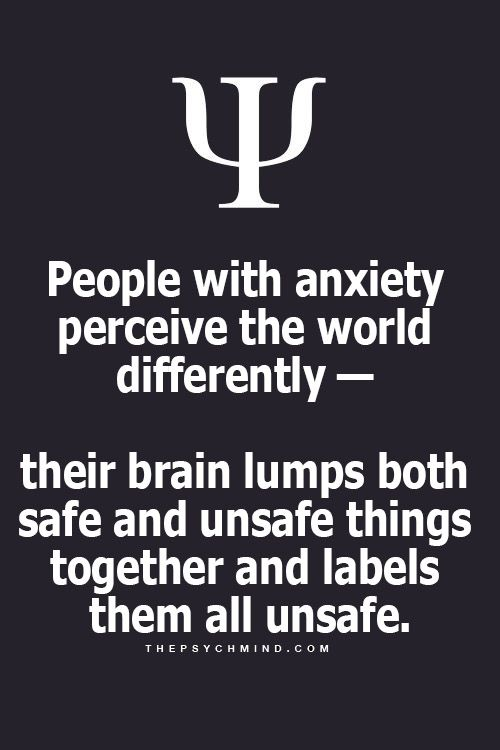 So true why anxiety is so debilitating. It's an altered perception on the brain