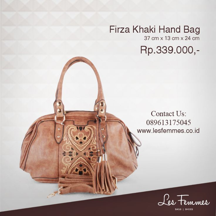 Firza Khaki Hand Bag 339,000 IDR #Fashion #Woman #bag shop now on http://www.lesfemmes.co.id/hand-bags/firza-khaki-hand-bag
