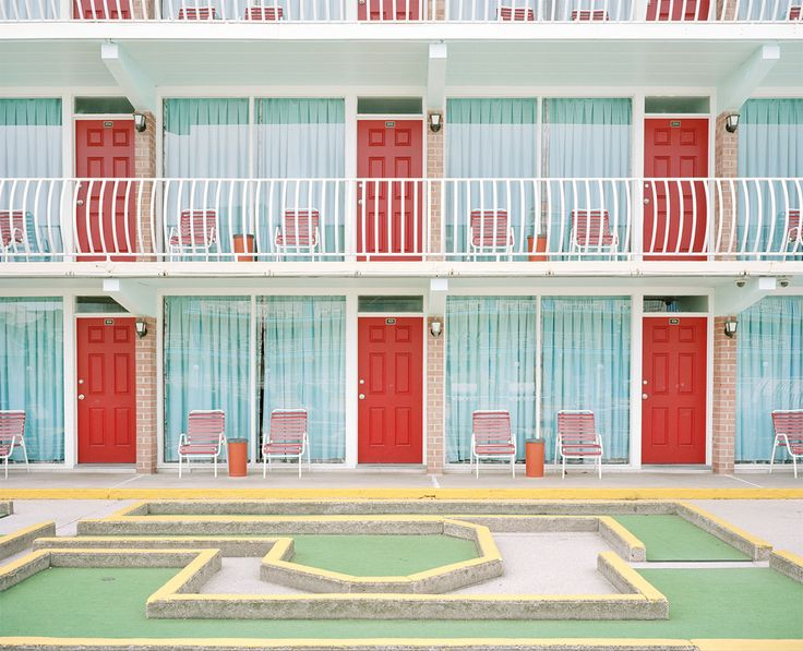 Historic Midcentury Modernist Motels along the 5-mile barrier island on the southern New Jersey coastline called the Wildwoods (comprised of the three towns Wildwood, Wildwood Crest, and North Wildwood) via Slate