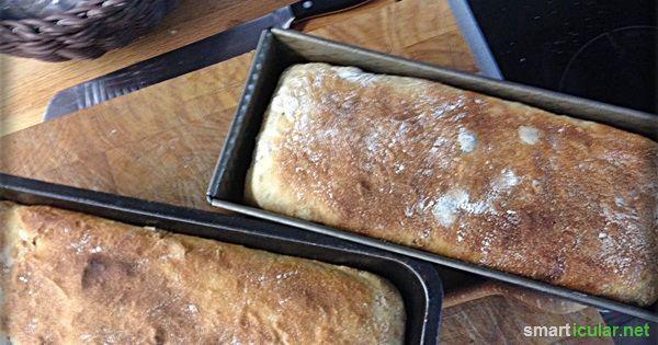Mit diesem Rezept bäckst du ein einfaches, schnelles und gesundes Toastbrot. Das schmeckt viel besser als die Brote aus dem Supermarkt.