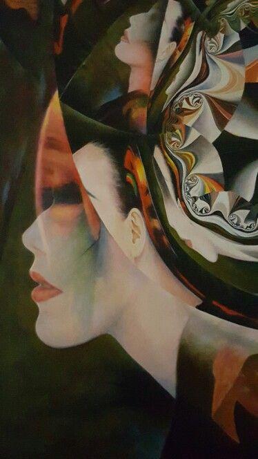 "Carla Bresciano, oil on canvas ""Cinok"""