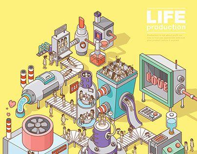 Ознакомьтесь с этим проектом @Behance: «Life Production» https://www.behance.net/gallery/18343423/Life-Production