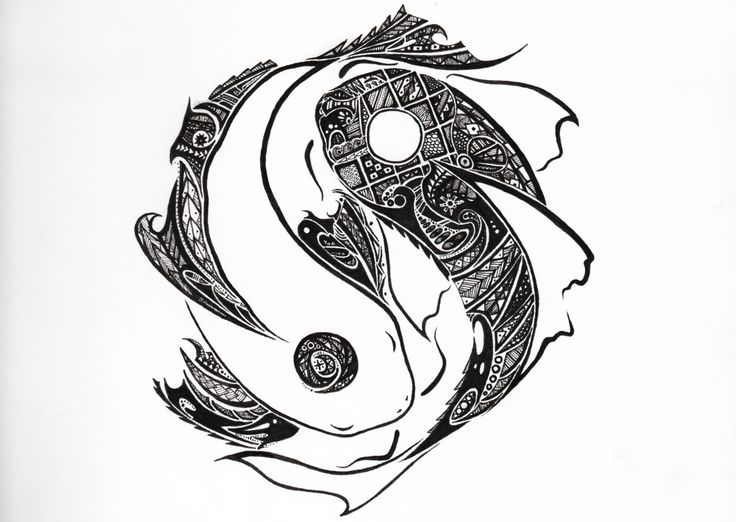Tribal yinyang koi design tattoo ideas pinterest koi for Architecture yin yang