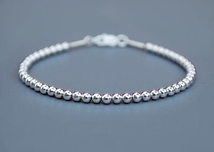 BRANSOLETKA z kuleczek srebro 925 3mm w euforio na DaWanda.com