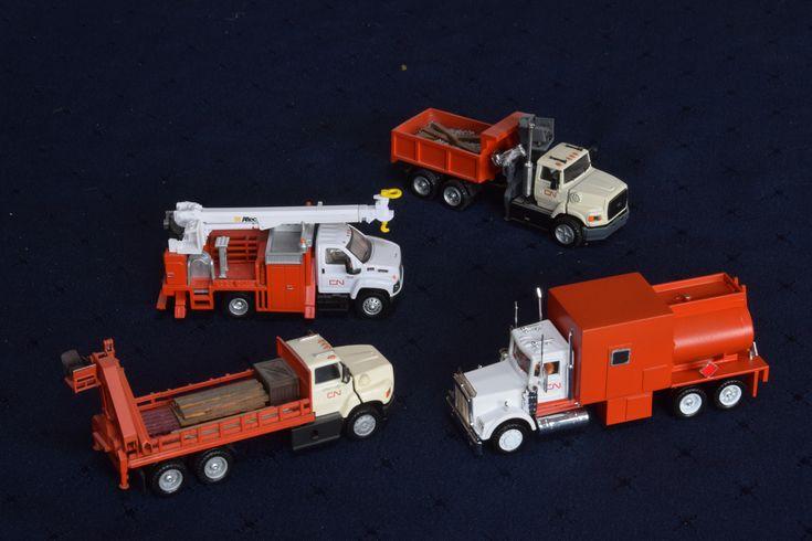 4 véhicules Canadien National peint à la main échelle Ho