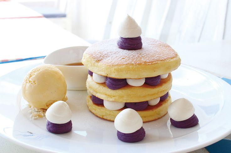 紅芋ミルフィーユパンケーキ