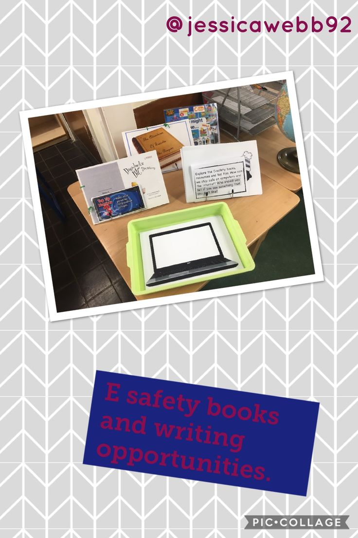 E safety books and writing opportunities. Write an e safety rule  or write / draw what you use the Internet for.