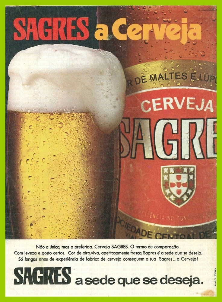 Vintage Beer Poster - Cerveja Sagres