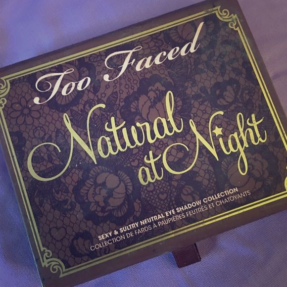 Too Faced palette - Natural at Night Natural at Night. Palette by Two Faced. Only used once. Comes with the cards showing application/instruction. Too Faced Makeup Eyeshadow