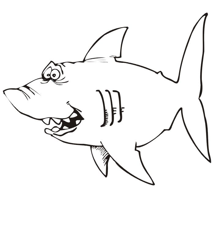print off some of these great coloring pages for shark week this site offers lots of choices just rig - Coloring Pages Sharks Print
