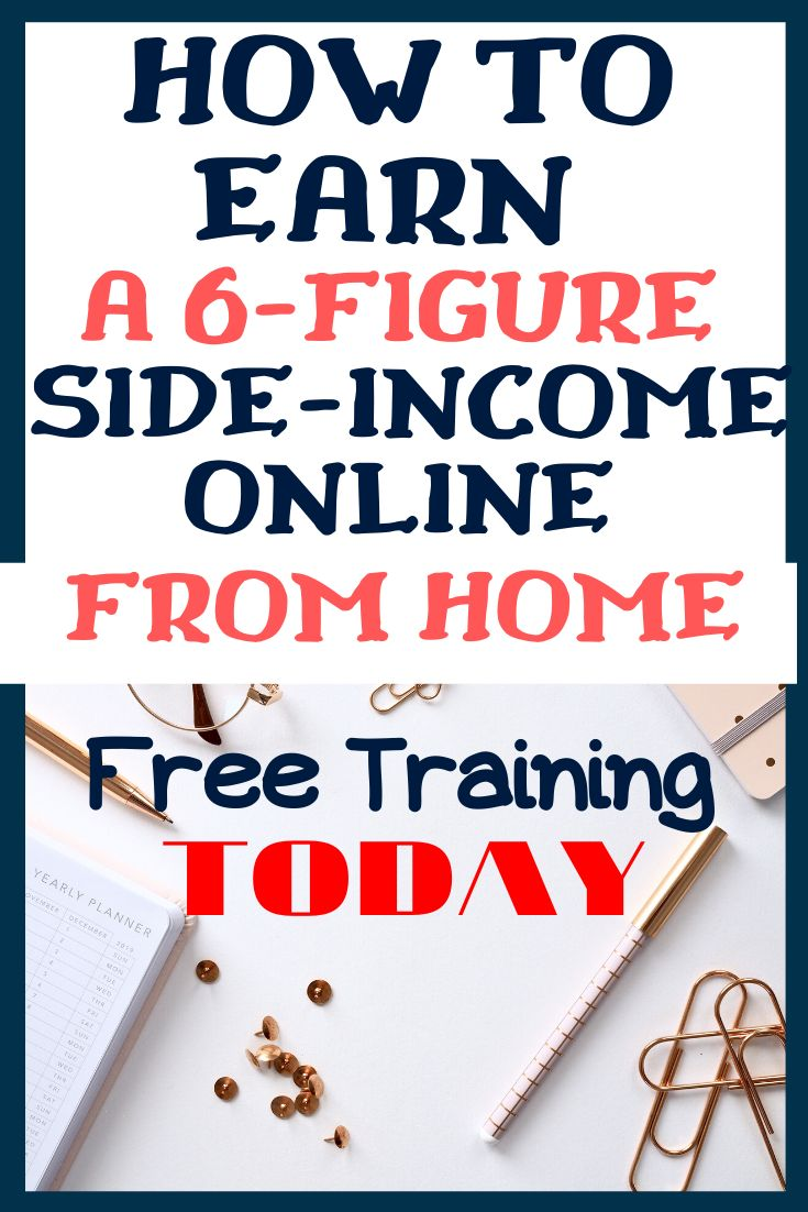 How to earn a 6figure side from home today side