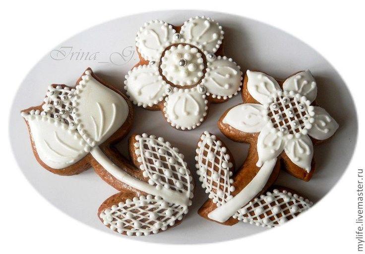 Свадебные пряники-сувениры - свадьба,свадебный сувенир,пряники-сердечки