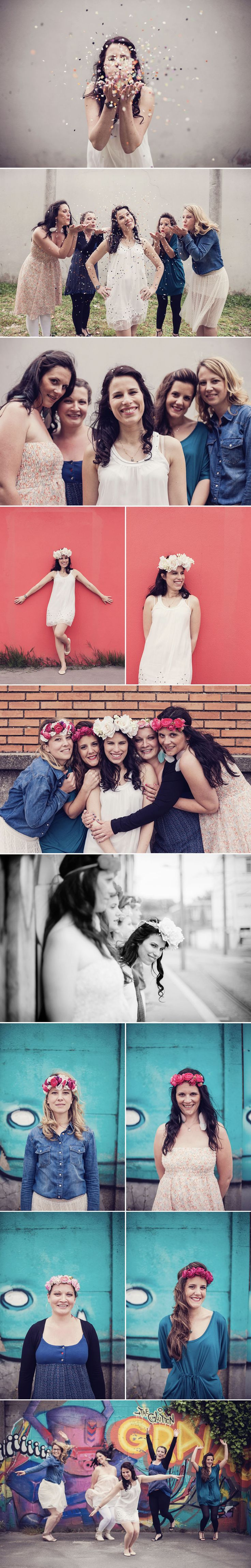 EVJF Emily // Séance photo EVJF // Sarah Miramon Photographe   #evjf #filles #confettis #lifesyle #photo #photographe #bordeaux