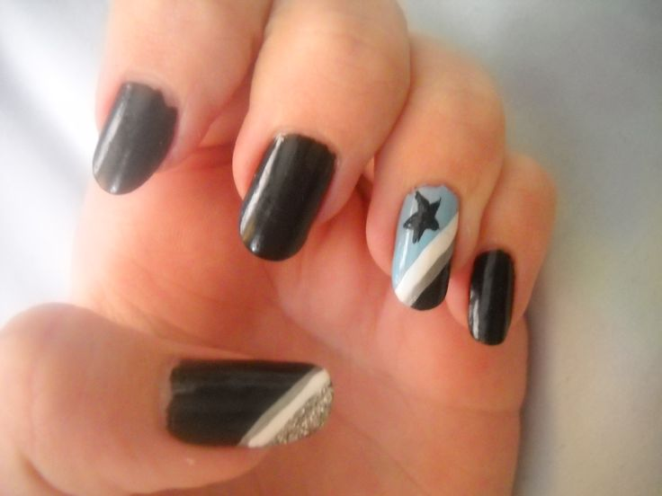 Nails Inspired By Blackstar From Soul Eater