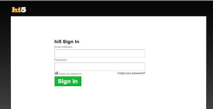 hi5 Login - hi5.com - Online Page With Facebook | Login