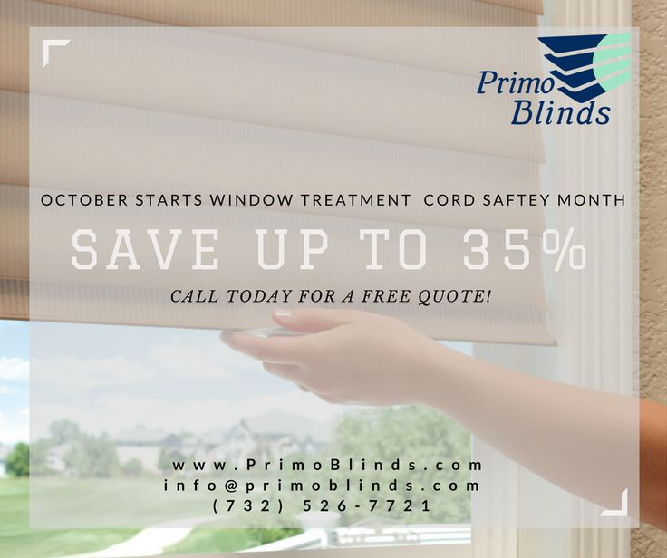 🚨 SALE 🚨 We are offering up to 35% OFF on the Hunter Douglas LiteRise Blinds & Shades. Call Today for a FREE quote! #ProtectOurChildren #OctoberWindowTreatmentSafetyMonth #OctoberSpecial   info@PrimoBlinds.com (732) 526-7721