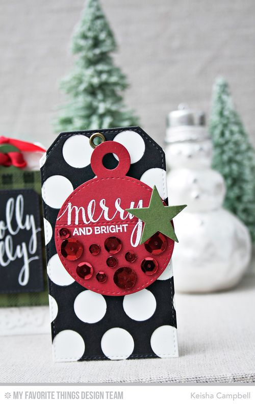 Hand Lettered Holiday, Jumbo Dot Cover-Up Die-namics, Stitched Traditional Tags STAX Die-namics, Tag Builder Blueprints 4 Die-namics - Keisha Campbell #mftstamps