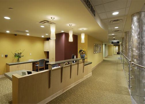 The Boonshoft College Of Medical Arts Reception Desk Located In Dayton Ohio Designed Jain Malkin Inc