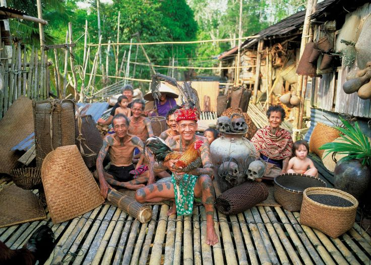 Iban tribe in their longhouse #SoutheastAsia #Borneo #travel #TheAudleyWay #meetthelocals