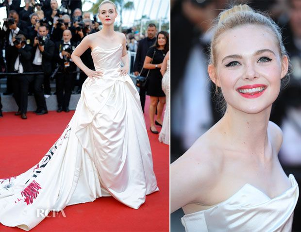 Elle Fanning In Vivienne Westwood Couture - 'Ismael's Ghosts' Cannes Film Festival Premiere - Red Carpet Fashion Awards