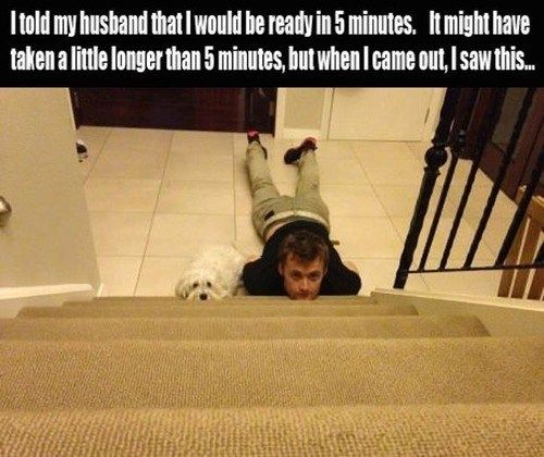 I could so see my husband doing this...