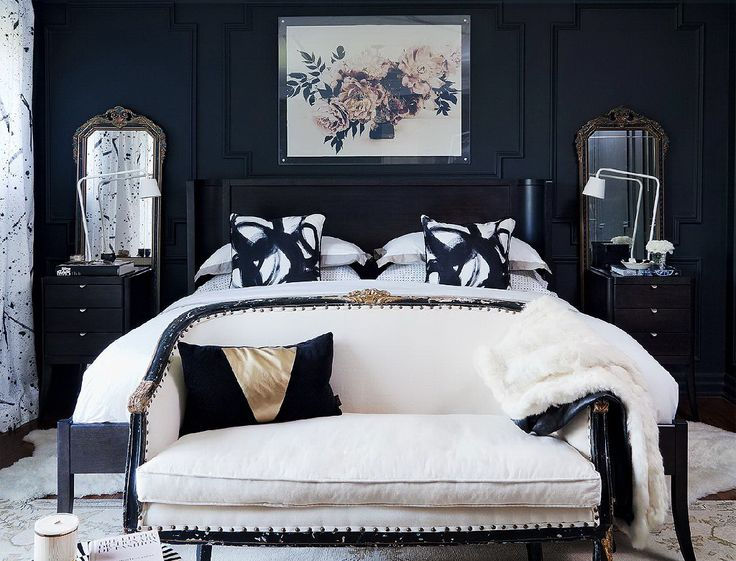 I want a Glamorous bedroom please.