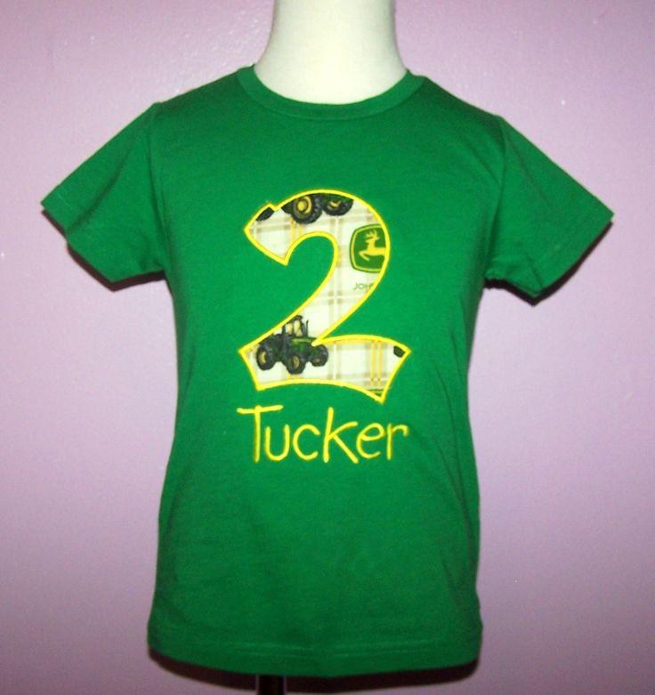 tractor, truck birthday party | Trucks & Transports :: Birthday John Deere Shirt Personalized Tractor ...