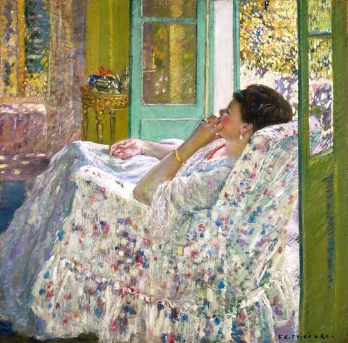 Frederick Frieseke, Afternoon - Yellow Room, 1910