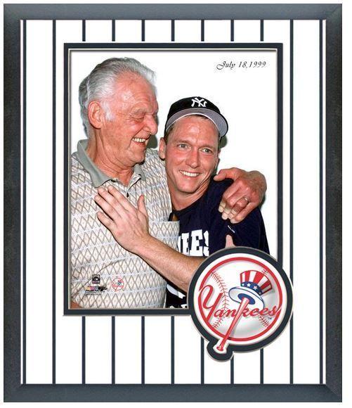 "Don Larsen and David Cone New York Yankees ""Perfect Game"" Pitchers - Circa 1999"