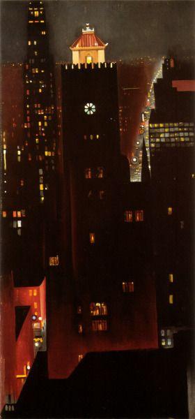 """""""new york night"""" georgia o'keeffe 1929."""