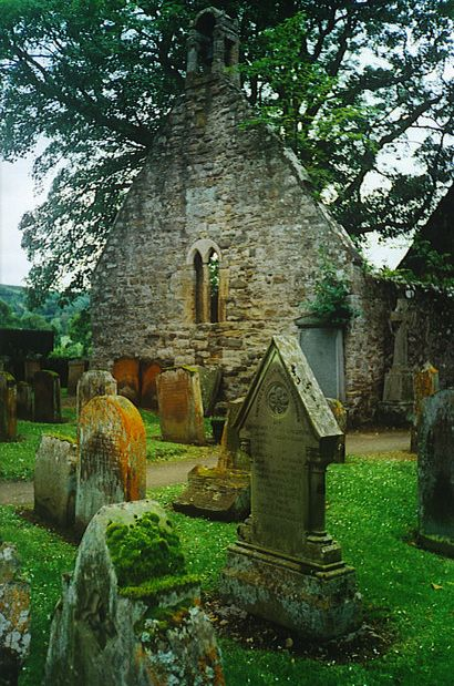 """The Auld Kirk, Alloway, Scotland. This ruined kirkyard is near Burns Cottage and is the setting for the Burns' poem, """"Tam o'Shanter""""."""