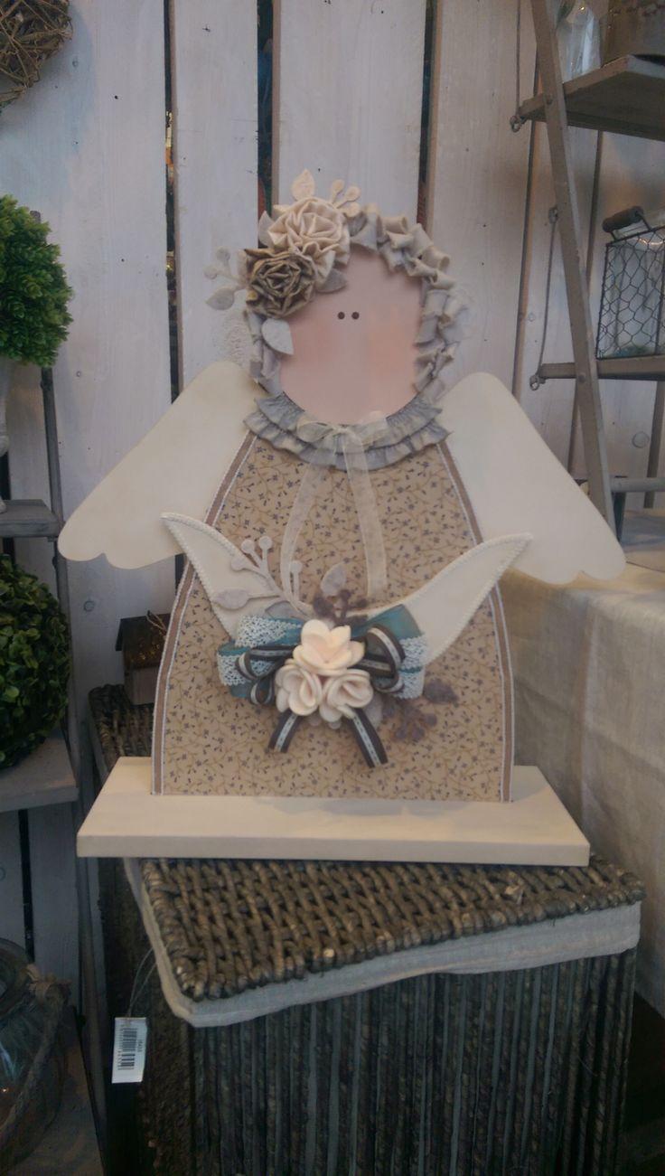 #idealegno #legno #fermaporta #angelo
