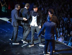 'N Sync's VMA reunion photo: Andrew H. Walker/Getty