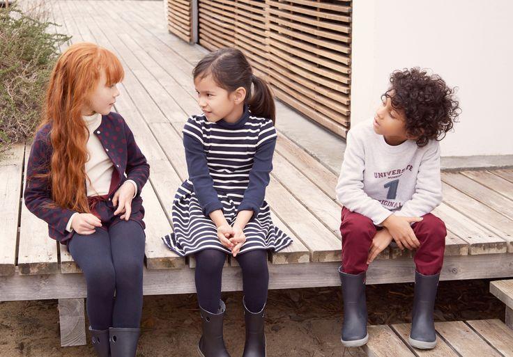 Autumn/Winter 2015-2016 lookbook - http://www.petit-bateau.fr/?CMP=SOC_11732SOU=TYP=SOCKW=pinterest #kidsfashion #lookbook #petitbateau #mode #boy #garçon #fille #girl #stripes #rayures