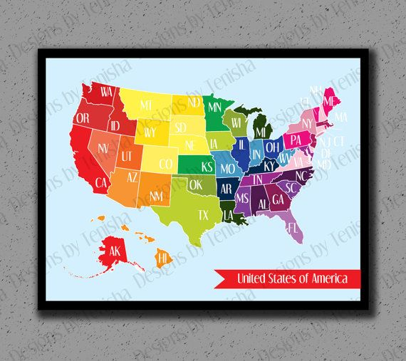 The 25 best United states travel map ideas on Pinterest