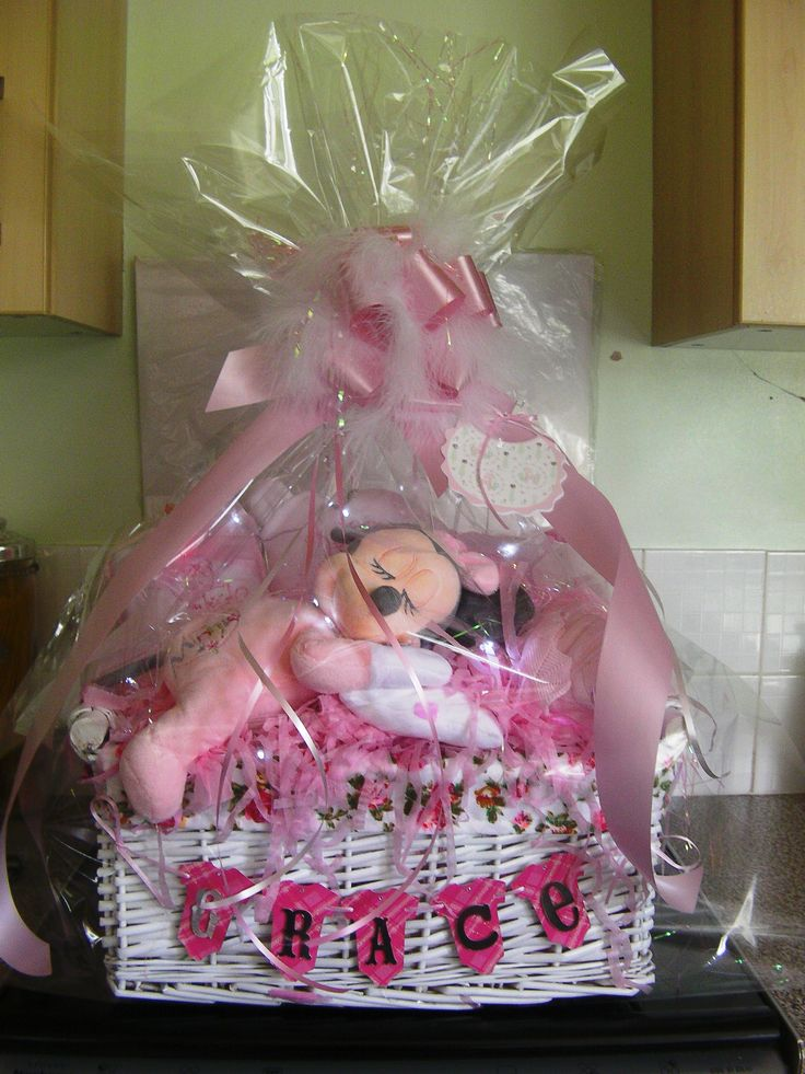 Baby Girl Gift Basket  http://www.nashvillewraps.com/baby-gift-wrap-bags/showpage.ww?page=babypackaging